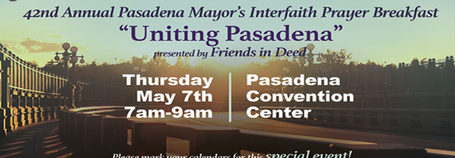 The 42nd Annual Pasadena Mayor's Interfaith Prayer Breakfast